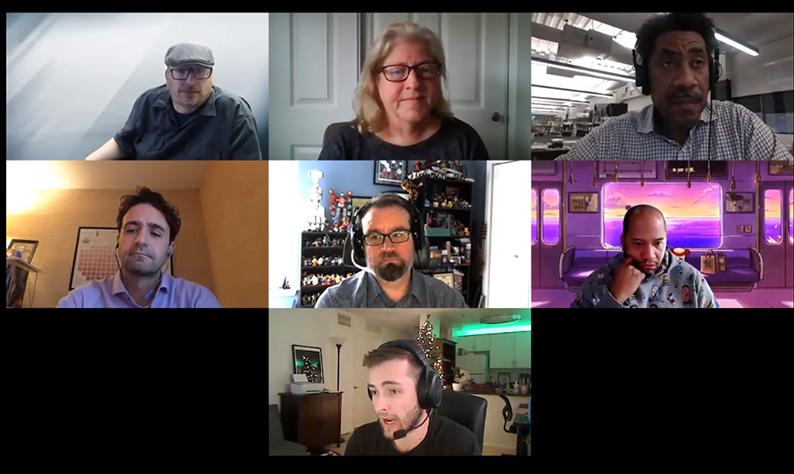 Webster panelists during Communications Careers Week