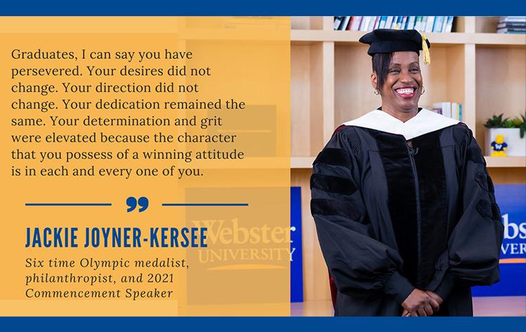 Jackie Joyner-Kersee addressed the Class of 2021