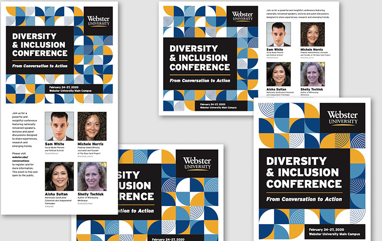 Snapshot of promotional materials for the annual DEI conference