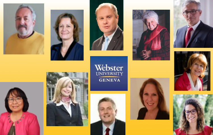 Webster University Geneva panelists on healthcare in the pandemic economy