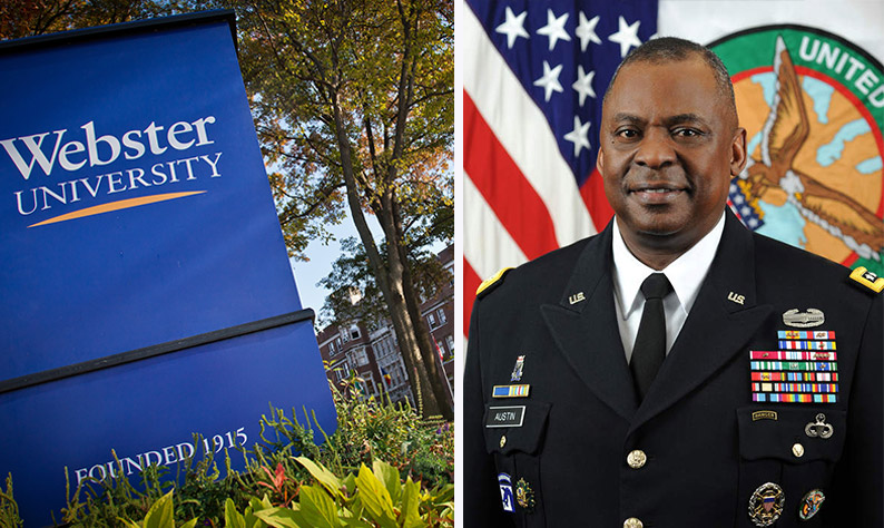 Gen. Lloyd Austin III, Webster University alumnus