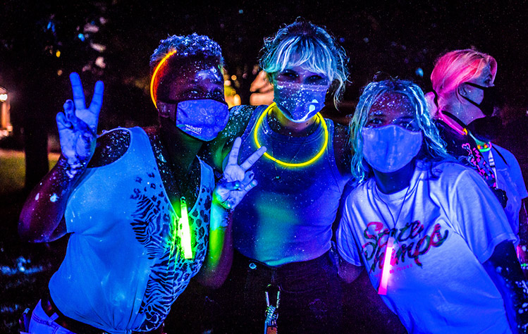 Glowfest 2021 on the Webster Groves campus