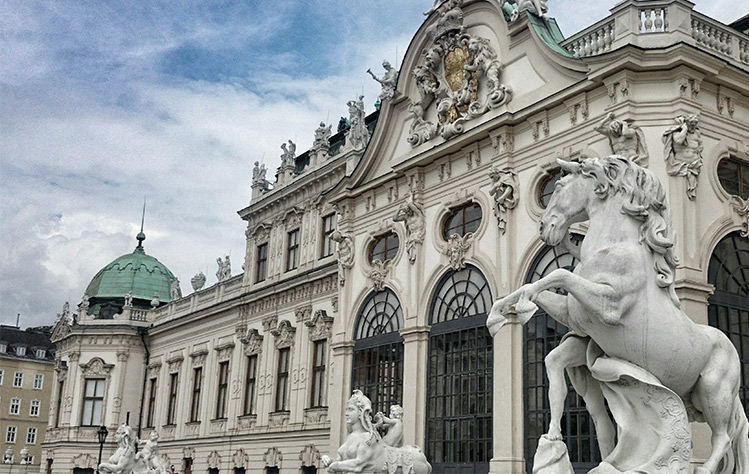 The Hofburg Palace is one of the many venues where Mozart performed