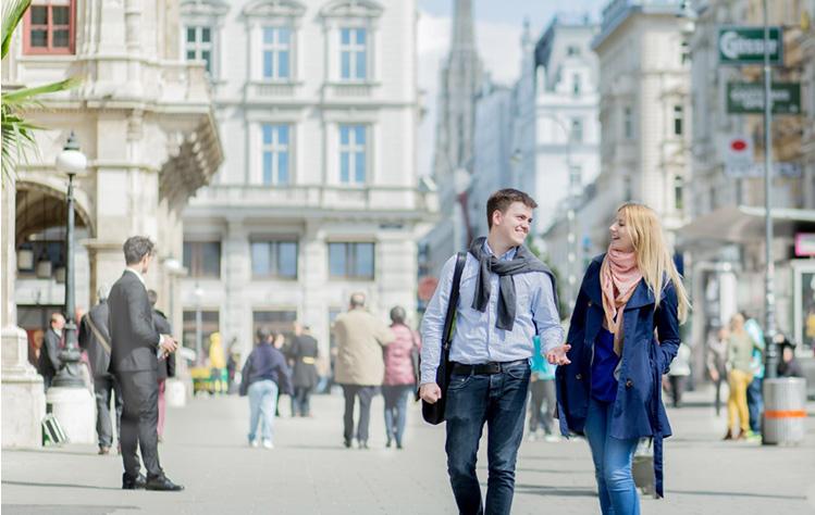 Students enjoying Vienna