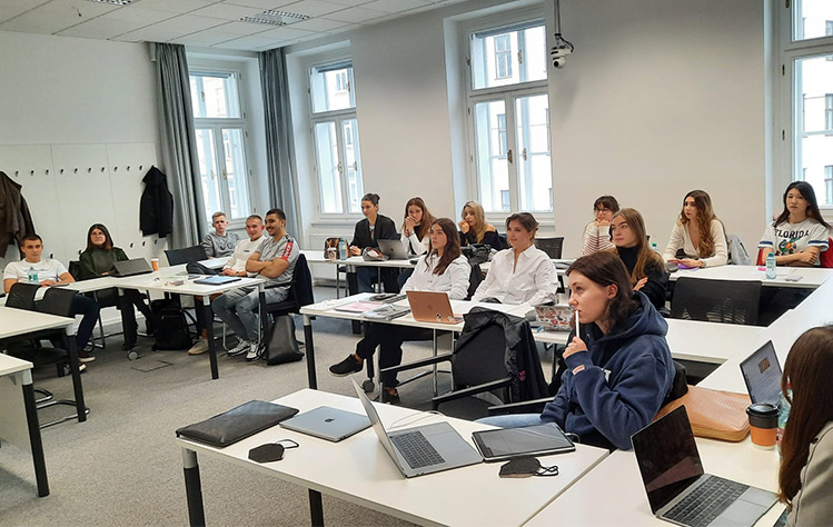Business and Management students in Vienna