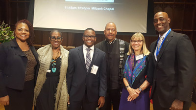 Jameca Falconer, Enita Rogers, Chris Campbell, invited speaker Dr.  Thomas Parham, Debbie Stiles and Centron Felder presented in New Orleans