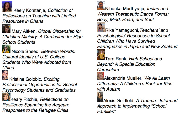 Applied Educational Psychology capstone topics