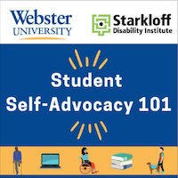 The first podcast in the series discusses accessing accommodations and tips for self-advocacy.