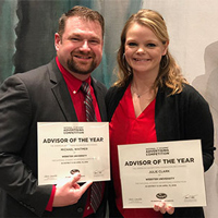 Adjunct faculty members Julie Clark and Michael Whitmer won Advisor of the Year awards.