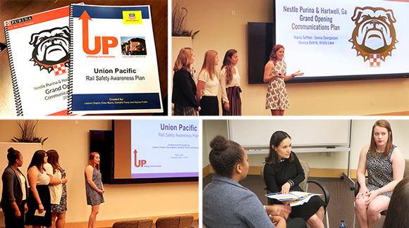 Students presented their PR campaigns at the conclusion of the capstone class