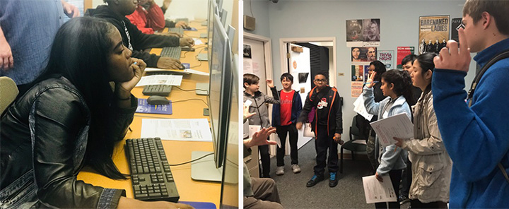 High school students experienced faculty-led, interactive learning sessions on the following media and technology topics: Audio Aesthetics, Visual Effects, How to Animate Using Technology, the Gaming Experience and Radio and Broadcasting