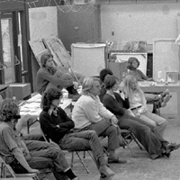 Painting class at Webster circa 1975