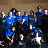 Webster University Dance Residency students taught worked with students at Webster Groves High School.