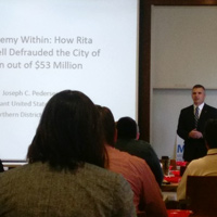 Walker School Hosts MFFI Conference on Fraud