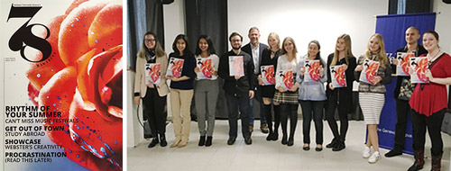 The cover and producers of 78 magazine in Geneva's Magazine Production class
