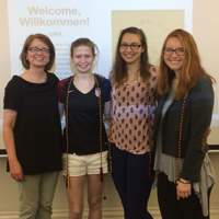 Students Inducted into German Studies Honor Society