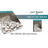 The $25 Great Decisions Briefing Book features impartial, thought-provoking analyses on the eight topics selected for this year's series.