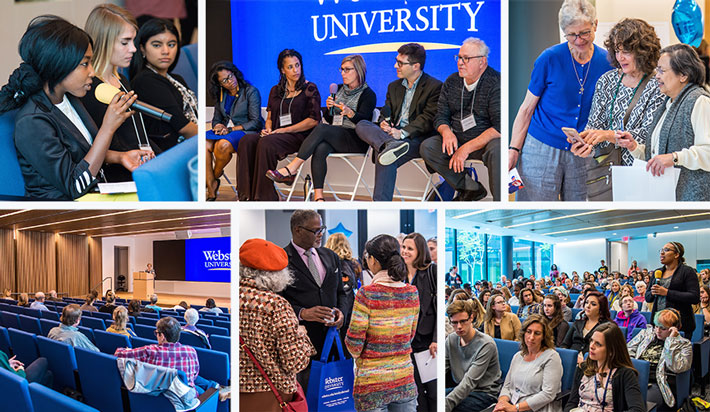Scenes from Webster's 10th annual, two-day Human Rights Conference: