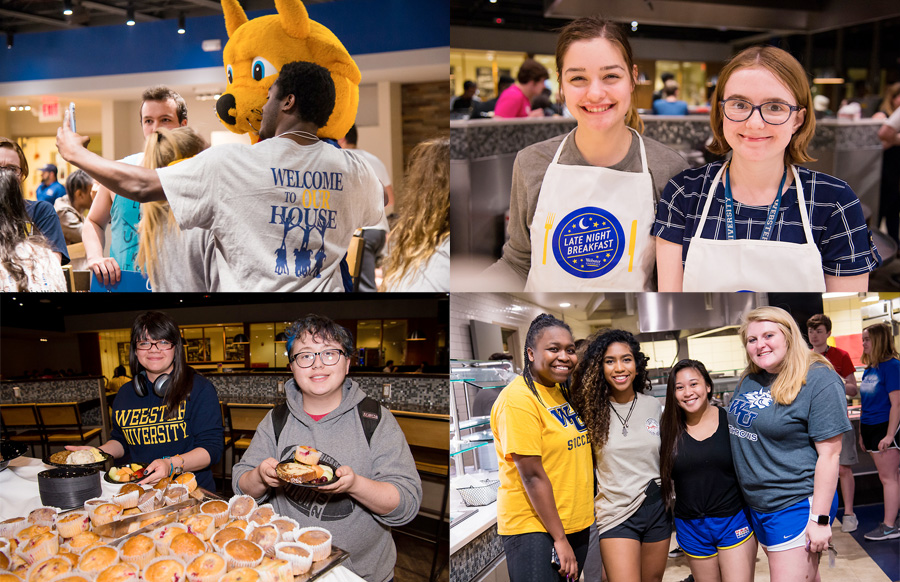 More than 300 students turned out for finals week late-night breakfast