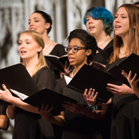 Webster choral ensembles will share the stage with UMSL's University Singers.