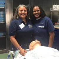 Webster faculty member with a prospective Nurse Anesthesia student