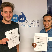 Four Webster Students Win Press Club Scholarships