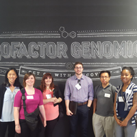 WATTS scholars toured Cofactor Genomics as part of the Career Development Tour.