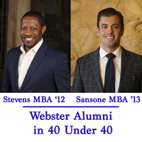 Stevens MBA '13 and Sansone MBA '13 will be saluted at the Feb. 22 dinner and in the St. Louis Business Journal special issue.