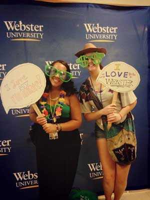Dominique Nadeau and Abigail Pfeiffer when they were both Webster students.