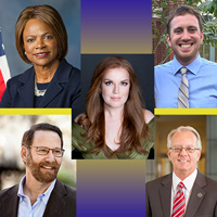 2018 Alumni Association Award Winners: Cano, Demings, Horn, Lange, Merschen