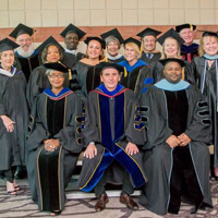 Faculty at the Webster Charleston ceremonies