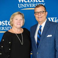 Deborah Leto with interim dean Tom Cornell