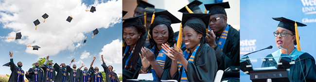 Celebrating the fourth annual commencement at Webster Ghana