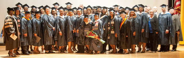 Webster conferred degrees to 68 students at the combined ceremony.