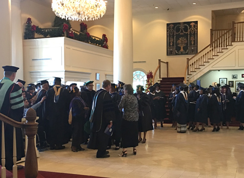 Graduates line up for commencement in South Carolina