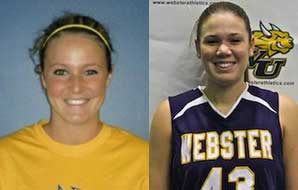 Katy Meyer and Crystal Spinner were inducted into the SLIAC Sports Hall of Fame
