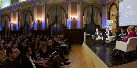 About 200 at the annual alumni symposium heard a discussion of the status of the EU 20 years in from leading thinkers from academia, government and the private sector.