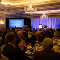 Marianne and Peter Gleich Honored at Annual Webster Society Dinner