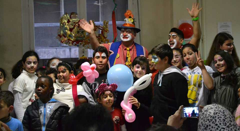 Caritas party clowns
