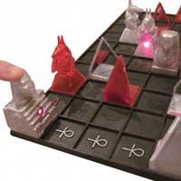The laser game won by student Deborah White