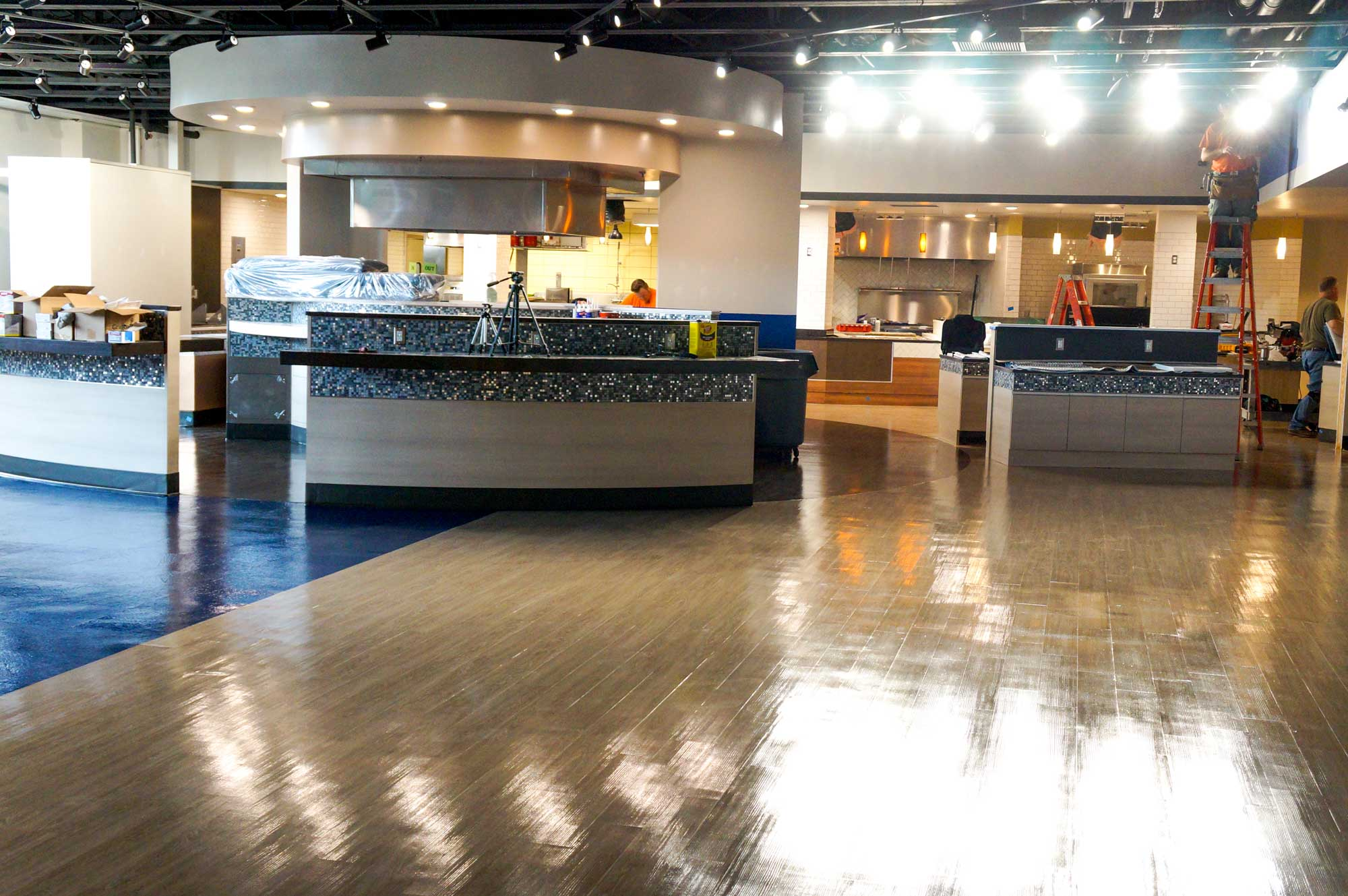 The work on Marletto's is progressing. The space will be open by the end of the month.