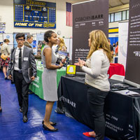 Career Fair took place on Tuesday, Sept. 26 with 70 employers
