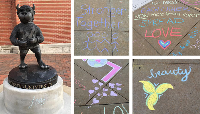 Chalking collage