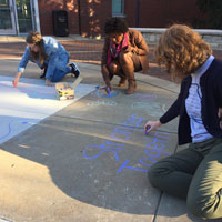 Snapshots: Student Chalking Event Inspires Hope, Peace