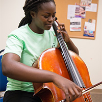 CMS offers one-on-one instruction on all instruments of the band and orchestra, piano, guitar and more.