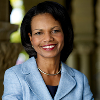 Condoleezza Rice video conferences in for CHINA Town Hall