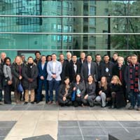 The cohort arrived for their rist workshop in Grenoble, France.