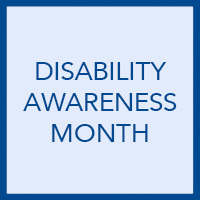 Disability Awareness Month: Encourage appropriate interactions