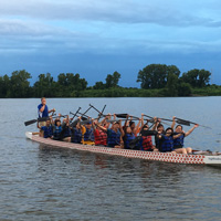 Snapshots: Webster Team Races in Gateway Dragon Boat Festival