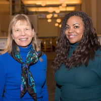 Webster University faculty members Debbie Stiles and Jameca Falconer presented their research at the longest running professional education program on cultural issues in psychology and education.